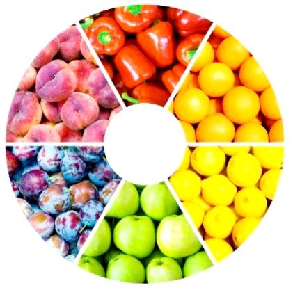 I colori della frutta#2: viola, verde e bianco