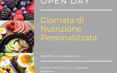 OPEN DAY di nutrizione personalizzata